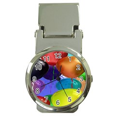 Colorful Balloons Render Money Clip Watches