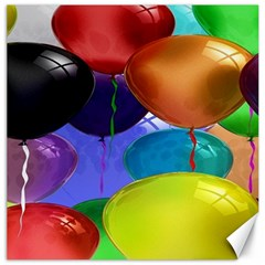 Colorful Balloons Render Canvas 12  X 12   by BangZart