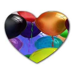 Colorful Balloons Render Heart Mousepads by BangZart
