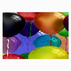 Colorful Balloons Render Large Glasses Cloth (2 Side)