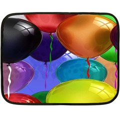Colorful Balloons Render Double Sided Fleece Blanket (mini)  by BangZart