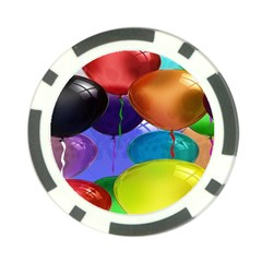 Colorful Balloons Render Poker Chip Card Guard (10 Pack)