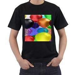 Colorful Balloons Render Men s T Shirt (black)