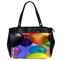 Colorful Balloons Render Office Handbags (2 Sides)  by BangZart