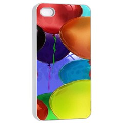 Colorful Balloons Render Apple Iphone 4/4s Seamless Case (white)