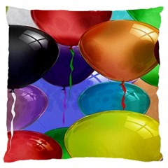 Colorful Balloons Render Large Cushion Case (one Side) by BangZart