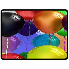 Colorful Balloons Render Double Sided Fleece Blanket (large)  by BangZart