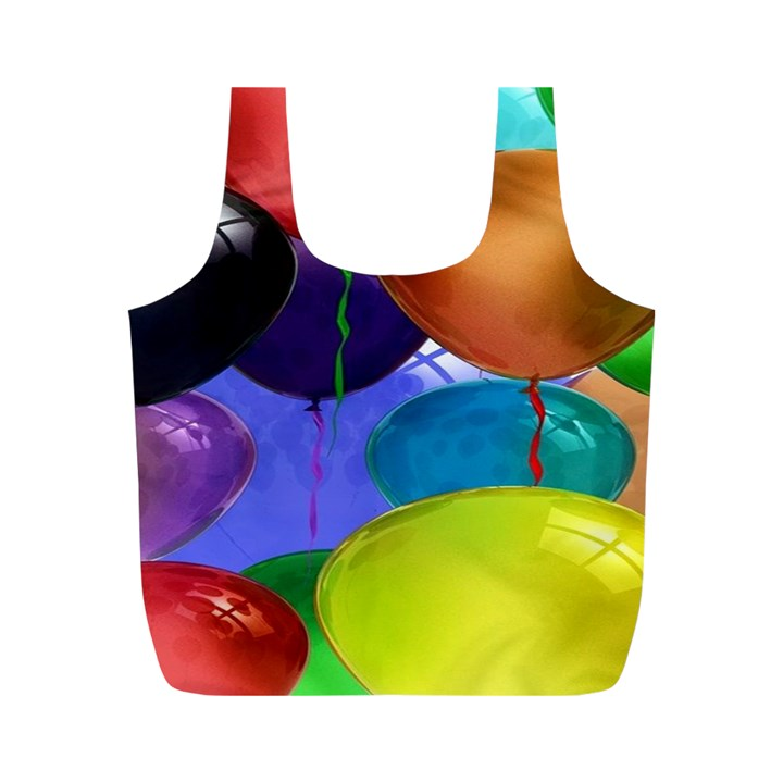 Colorful Balloons Render Full Print Recycle Bags (M)