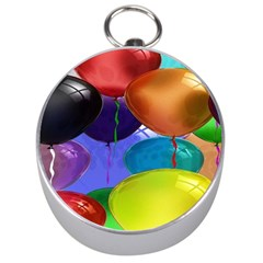 Colorful Balloons Render Silver Compasses by BangZart