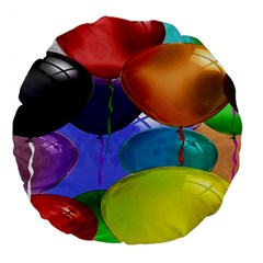 Colorful Balloons Render Large 18  Premium Flano Round Cushions by BangZart