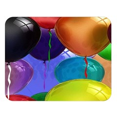 Colorful Balloons Render Double Sided Flano Blanket (large)