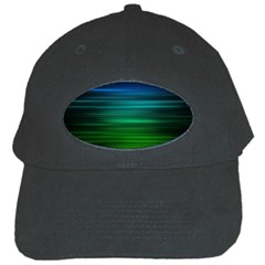 Blue And Green Lines Black Cap by BangZart