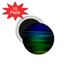 Blue And Green Lines 1 75  Magnets (10 Pack)  by BangZart