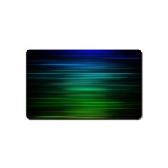 Blue And Green Lines Magnet (name Card)