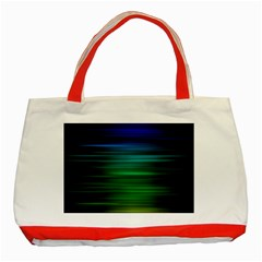 Blue And Green Lines Classic Tote Bag (red)