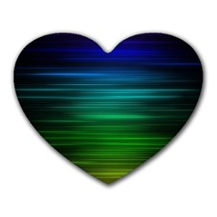 Blue And Green Lines Heart Mousepads by BangZart