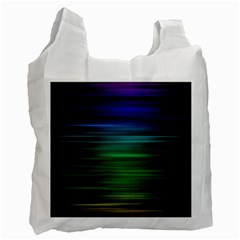 Blue And Green Lines Recycle Bag (one Side)