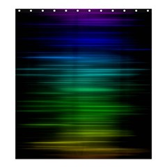 Blue And Green Lines Shower Curtain 66  X 72  (large)