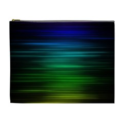 Blue And Green Lines Cosmetic Bag (xl)