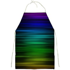 Blue And Green Lines Full Print Aprons by BangZart