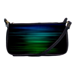 Blue And Green Lines Shoulder Clutch Bags