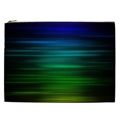 Blue And Green Lines Cosmetic Bag (xxl)  by BangZart