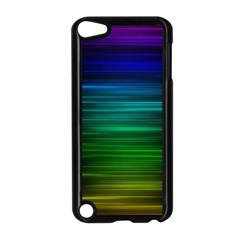 Blue And Green Lines Apple Ipod Touch 5 Case (black)