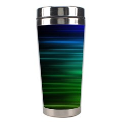 Blue And Green Lines Stainless Steel Travel Tumblers