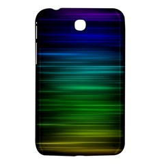 Blue And Green Lines Samsung Galaxy Tab 3 (7 ) P3200 Hardshell Case  by BangZart