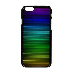 Blue And Green Lines Apple Iphone 6/6s Black Enamel Case by BangZart