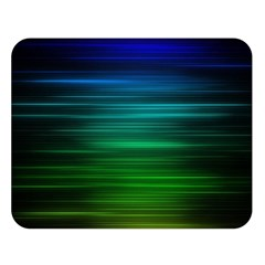 Blue And Green Lines Double Sided Flano Blanket (large)  by BangZart