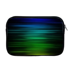 Blue And Green Lines Apple Macbook Pro 17  Zipper Case by BangZart