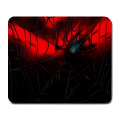 Spider Webs Large Mousepads by BangZart