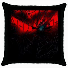 Spider Webs Throw Pillow Case (black)