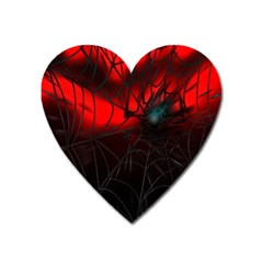 Spider Webs Heart Magnet by BangZart