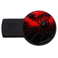 Spider Webs Usb Flash Drive Round (2 Gb) by BangZart