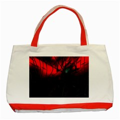 Spider Webs Classic Tote Bag (red)