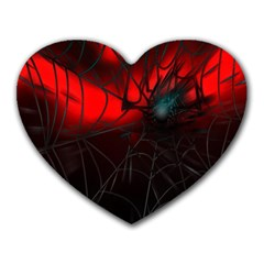 Spider Webs Heart Mousepads by BangZart
