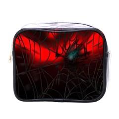 Spider Webs Mini Toiletries Bags by BangZart