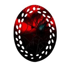 Spider Webs Ornament (oval Filigree) by BangZart