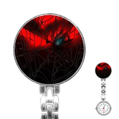 Spider Webs Stainless Steel Nurses Watch by BangZart