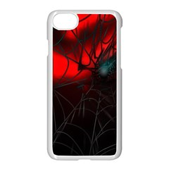 Spider Webs Apple Iphone 7 Seamless Case (white) by BangZart