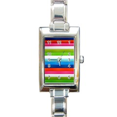 Colorful Plasticine Rectangle Italian Charm Watch by BangZart