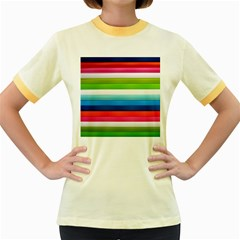 Colorful Plasticine Women s Fitted Ringer T Shirts