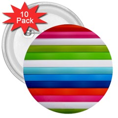 Colorful Plasticine 3  Buttons (10 Pack)  by BangZart