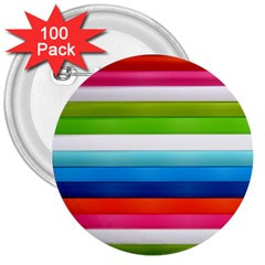 Colorful Plasticine 3  Buttons (100 Pack)  by BangZart