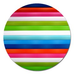 Colorful Plasticine Magnet 5  (round)