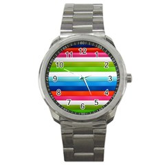 Colorful Plasticine Sport Metal Watch by BangZart