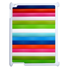Colorful Plasticine Apple Ipad 2 Case (white) by BangZart