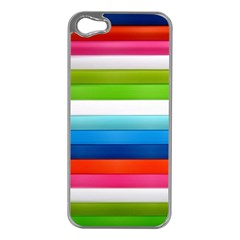 Colorful Plasticine Apple Iphone 5 Case (silver) by BangZart